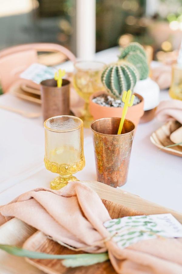 Acrylic cactus shaped drink stirrers