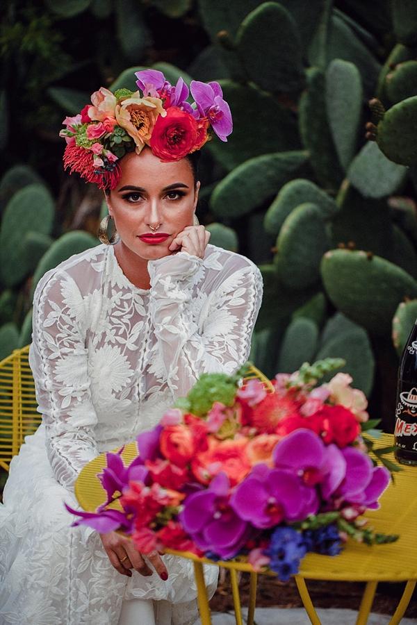 Cactus for wedding portrait backdrop