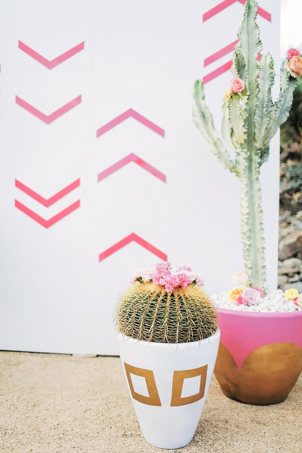 Golden barrel cactus wedding decor ideas