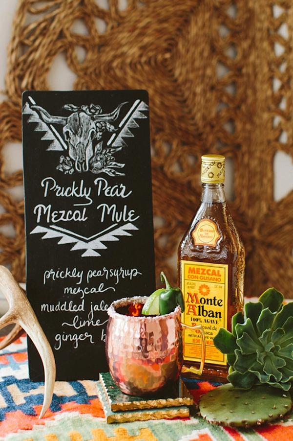 Cactus inspired signature cocktail