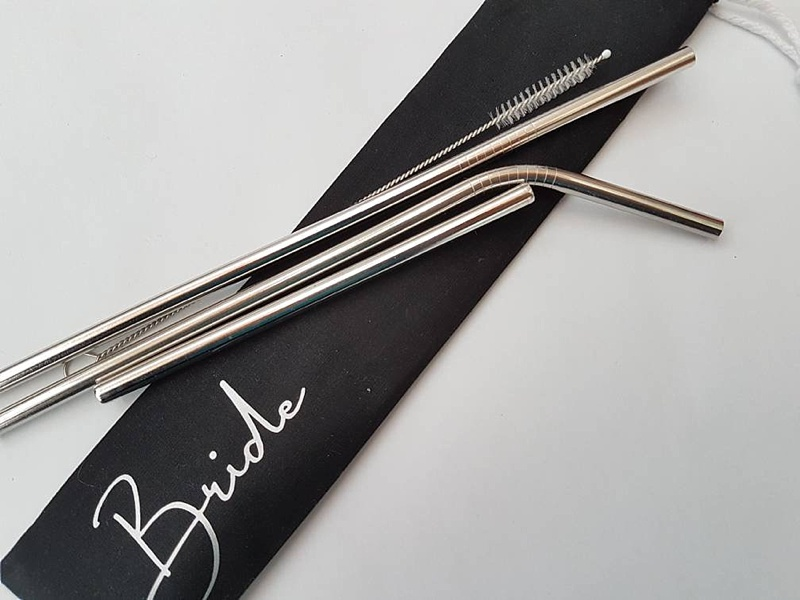 Unique custom reusable straws for eco friendly wedding favors