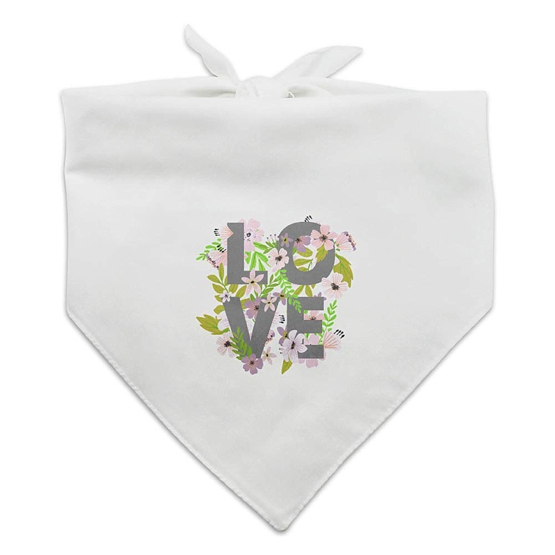Adorable wedding dog bandana with LOVE image