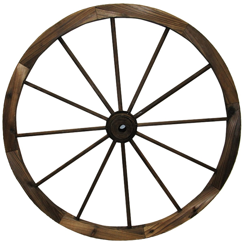 Giant wooden wagon wheel for rustic wedding decor