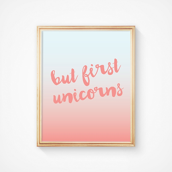 but first unicorns poster