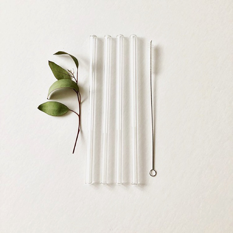 Reusable glass straws for couples looking to have a stylish eco friendly wedding favor