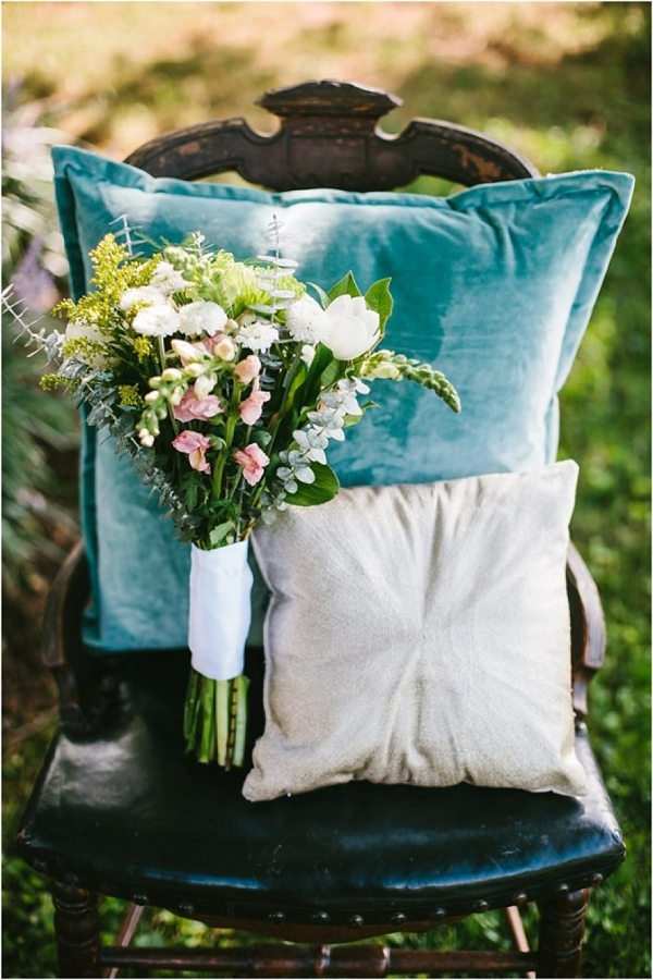 Turquoise velvet throw pillow
