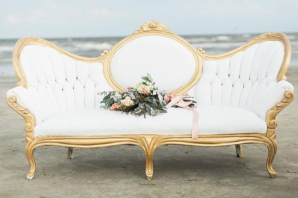 White velvet vintage furniture