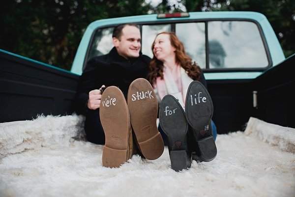 Cute shoe idea for engagement session