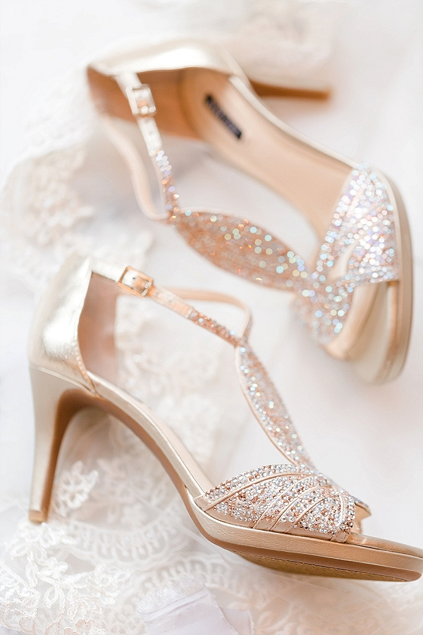 Sparkly gold bridal shoes