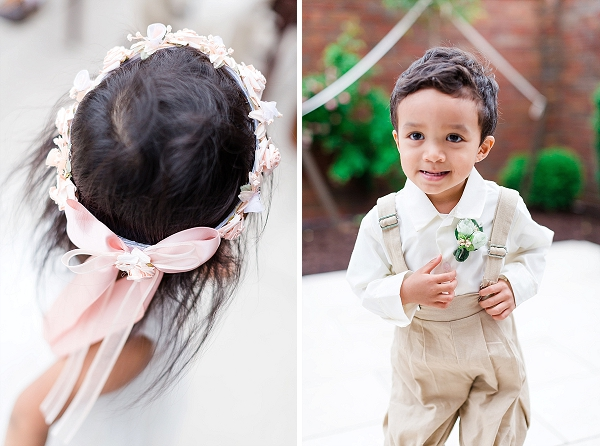 Adorable ring bearer and flower girl