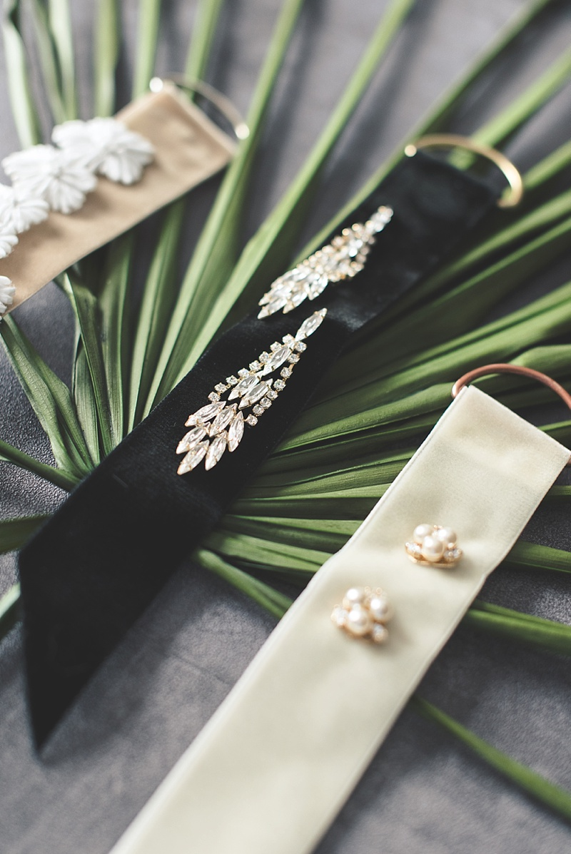 Gorgeous and easy to make velvet earring display tags with BHLDN jewelry