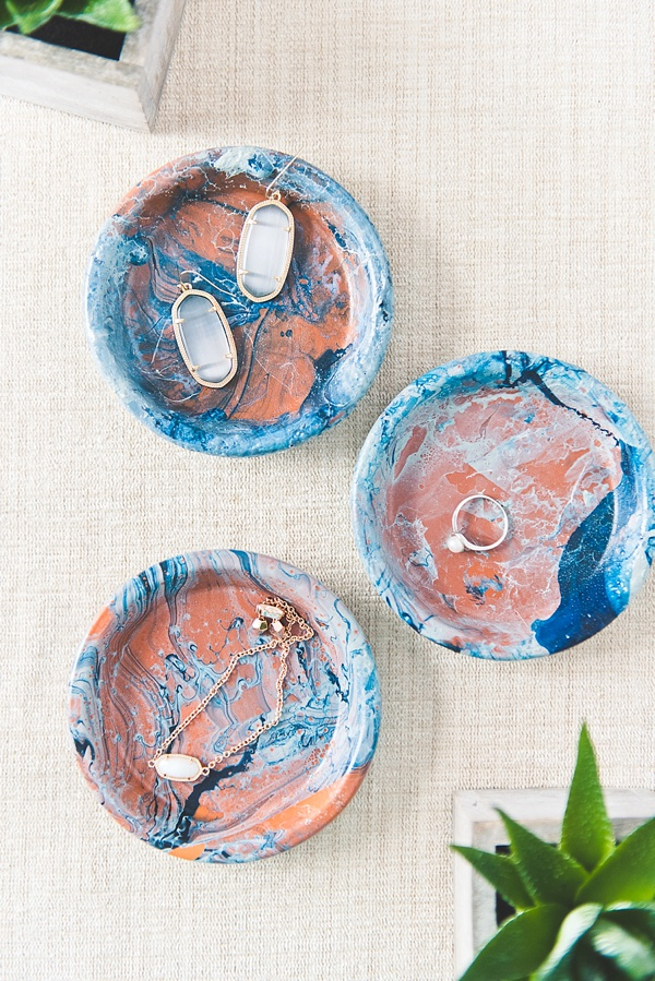 Gorgeous blue and soft green ocean inspired ring dishes