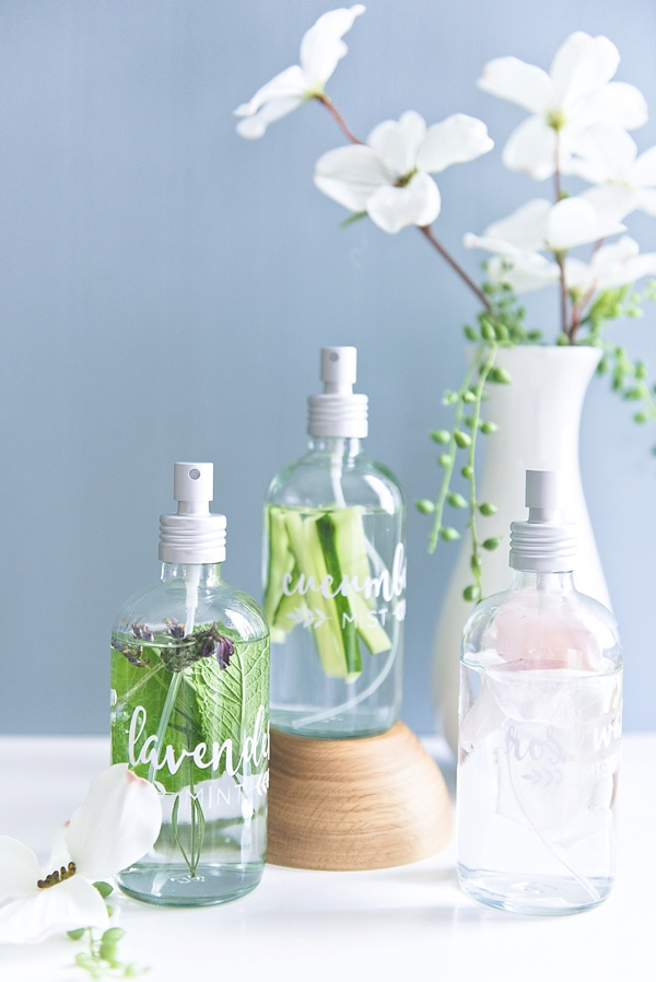 How to make herb infused water misters without essential oils