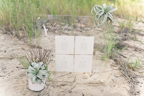 DIY Modern Beach Wedding Seating Chart | Tidewater and Tulle ...