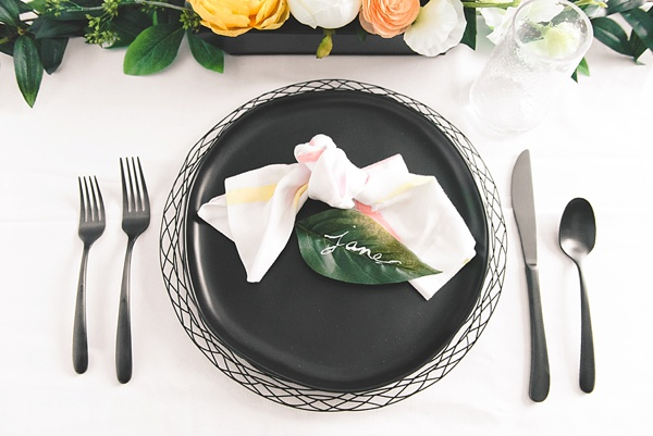 Pretty watercolor wedding napkins