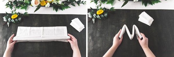 How to make beautiful eco-friendly reusable napkins for your wedding