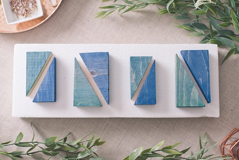 Blue and green wedding DIY project for your eco friendly winter wedding