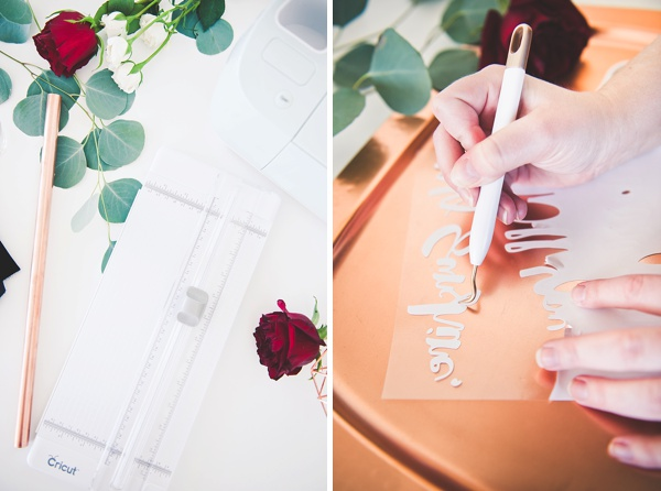 Cricut tools to make a wedding banner