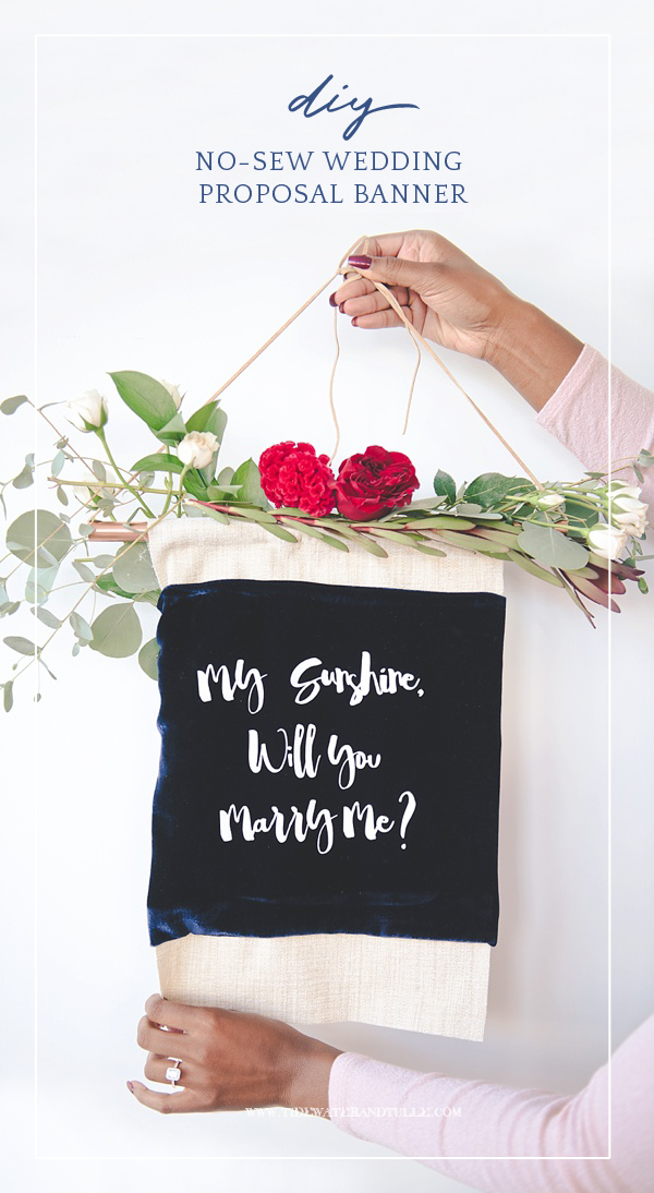 How to make an easy DIY no-sew wedding proposal banner with Cricut Easypress
