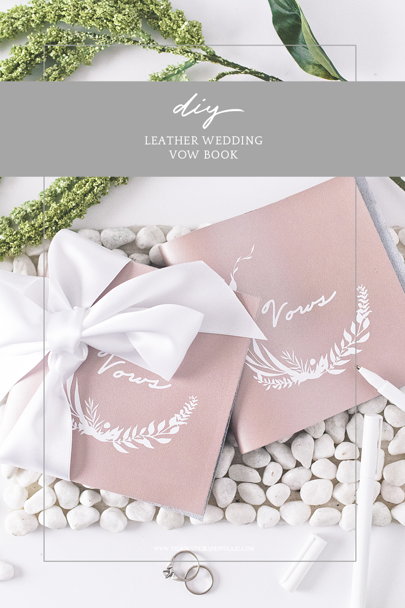 How to make an easy DIY vow book for your wedding using long stitch book binding