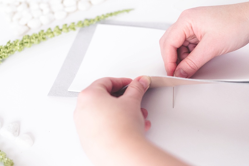How to do a long stitch to bind a wedding vow book