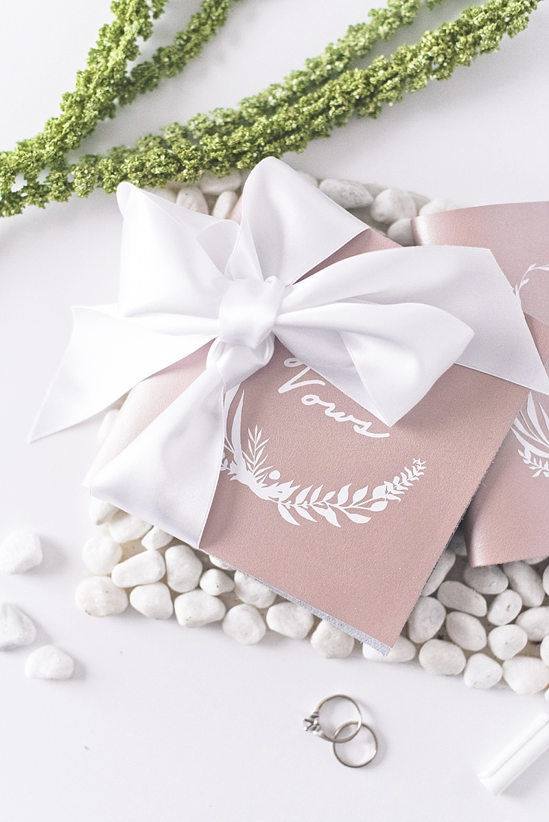 How to make a beautiful keepsake rose gold wedding vow book