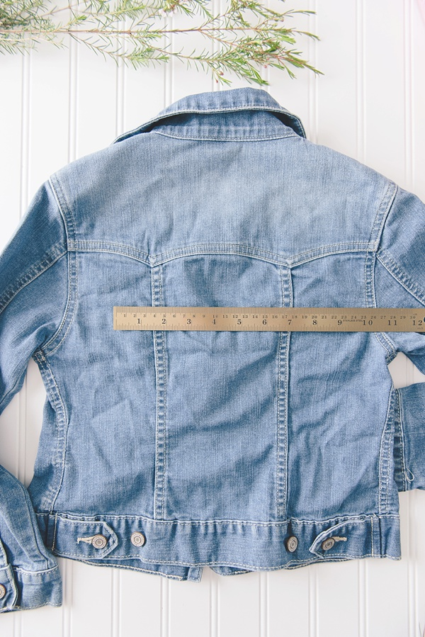 DIY rustic country wedding jean jacket for flower girl