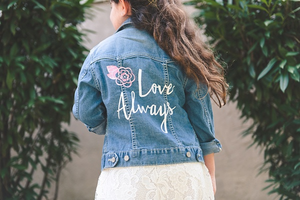 DIY wedding jacket using Cricut Explore Air