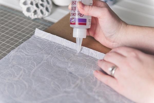 How to make an easy DIY no-sew bridal shoe bag