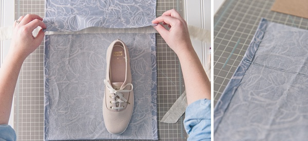How to make an easy DIY no-sew bridesmaid shoe bag