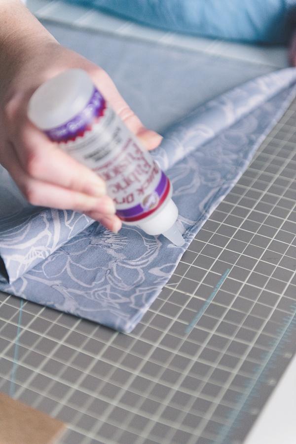 How to make an easy DIY no-sew wedding shoe bag