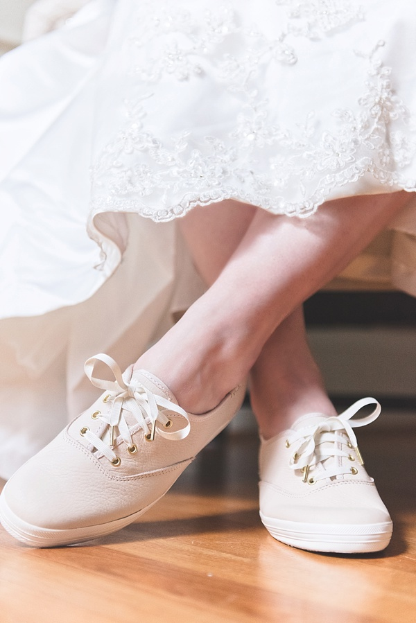 Keds Kate Spade pink leather wedding sneakers