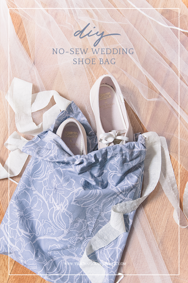 How to make an easy DIY no-sew wedding shoe bag