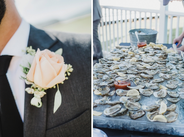 Raw oyster bar for wedding cocktail hour
