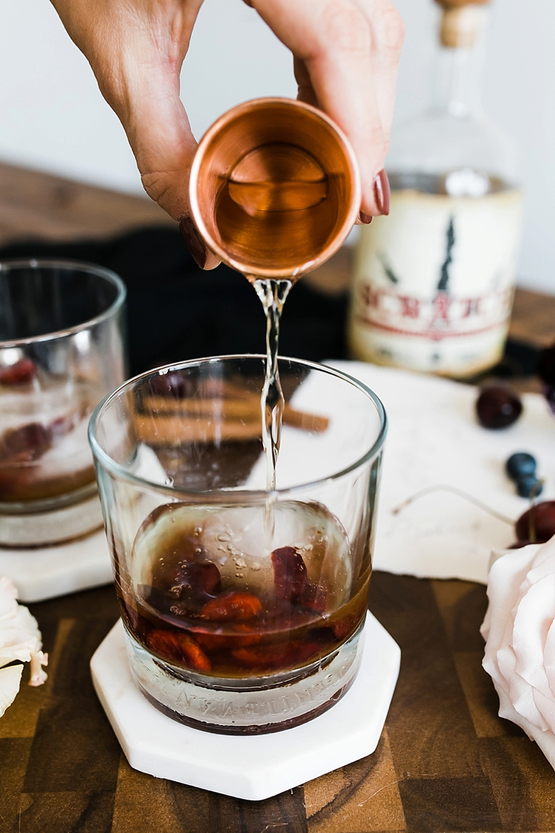 How to make a spiced cherry old fashioned with bourbon