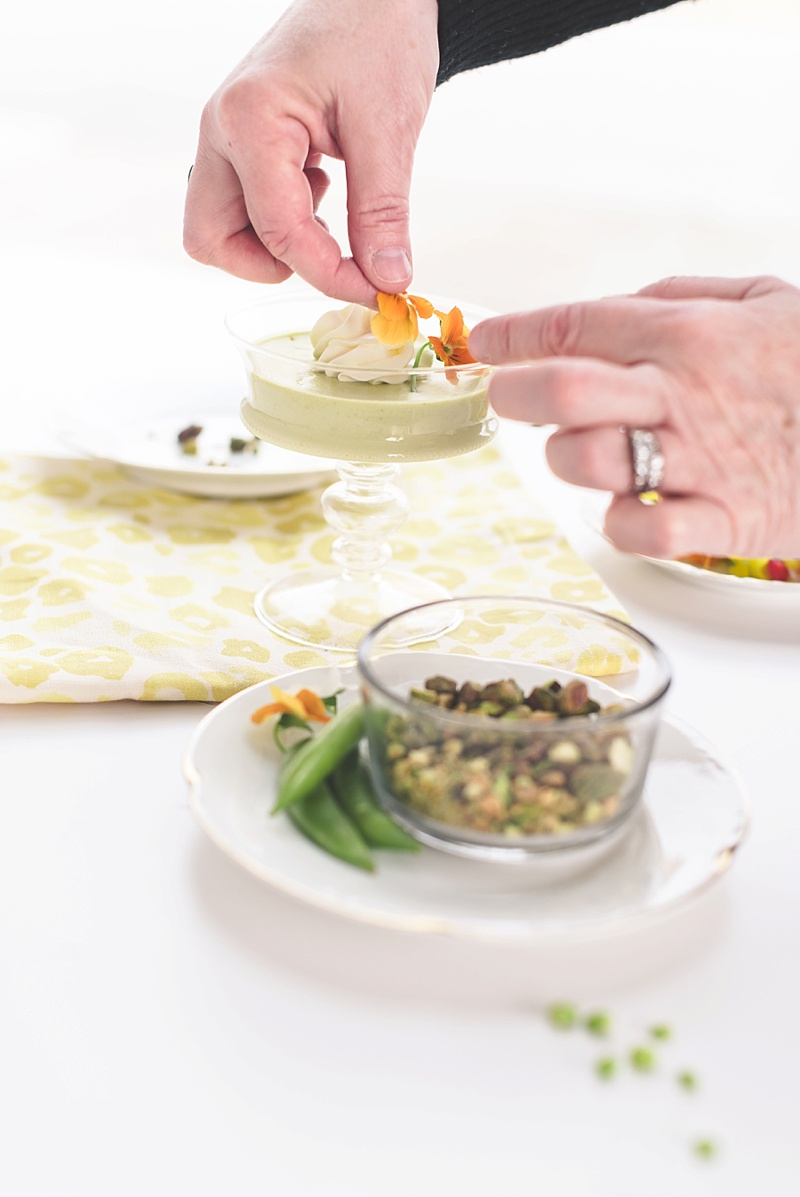 How to garnish a savory panna cotta appetizer