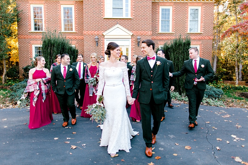Red rustic fall wedding at Eden Try Estate in Virginia