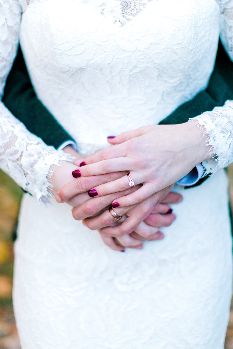 Rose gold wedding and engagement rings for fall wedding inspiration