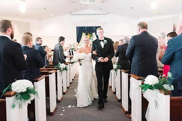 Wedding ceremony in Gloucester Virginia