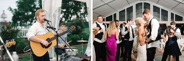 Luke Caccetta singing at wedding of his high school friends in Virginia