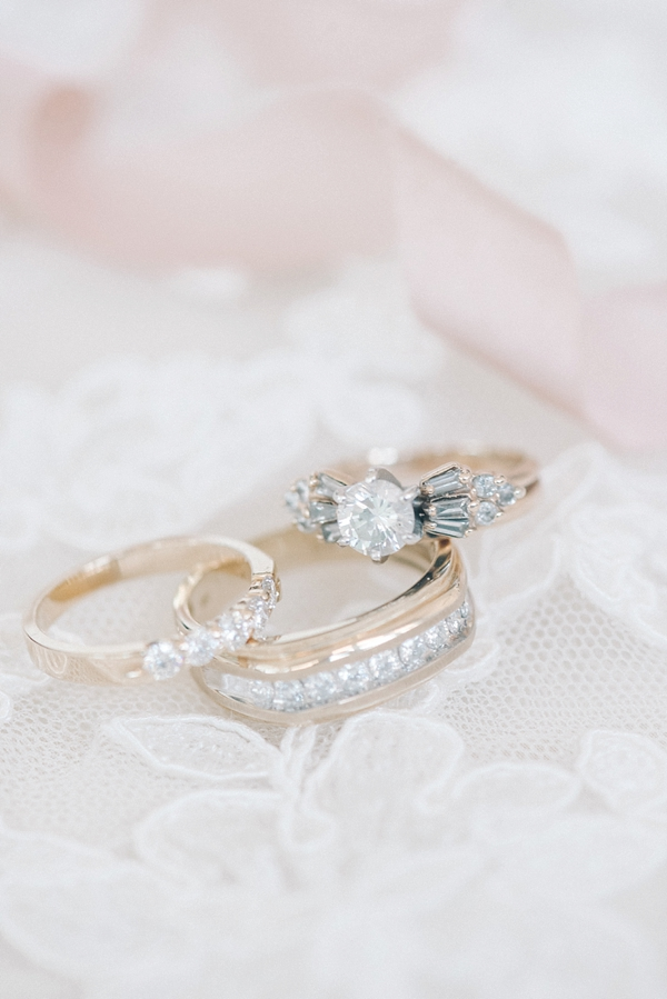 Vintage inspired wedding rings with art deco flair