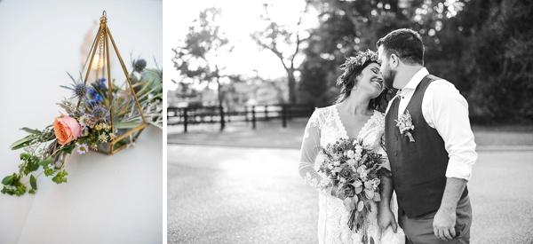 Geometric details for boho wedding