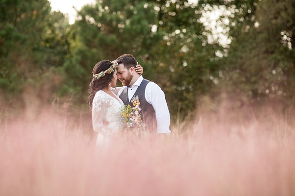 Boho backyard wedding in Gloucester Virginia