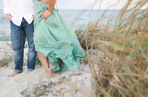 Windswept engagement session in Hampton Virginia