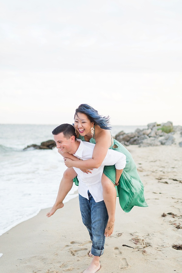 Sweet engagement session on the beach