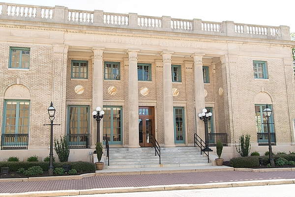 Historic Post Office wedding venue in Hampton Virginia