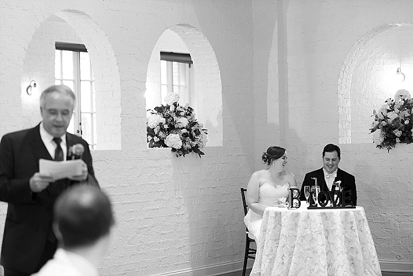 Sweet capture of a wedding toast