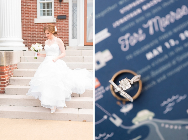 Sweet navy blue military wedding ideas