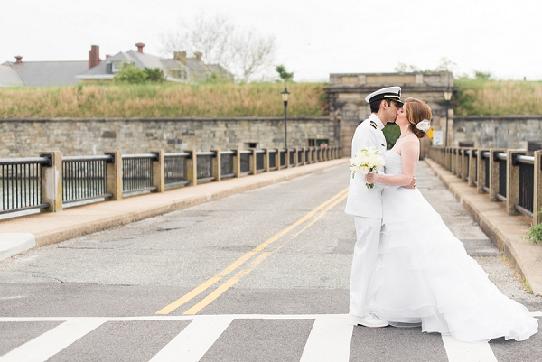 Military wedding at historic Fort Monroe in Coastal Virginia