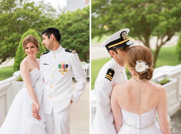 Hampton Virginia wedding with military bride and groom